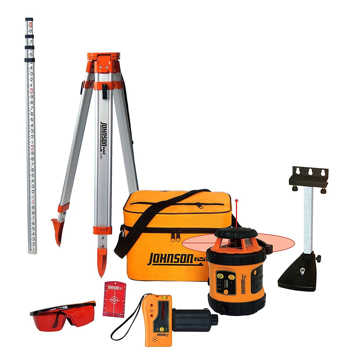 Self Leveling Rotary Laser Level Reviews Johnson Level Tool 99 006k Self Leveling Rotary Laser System Kit This John Laser Levels Rotary Mounting Brackets