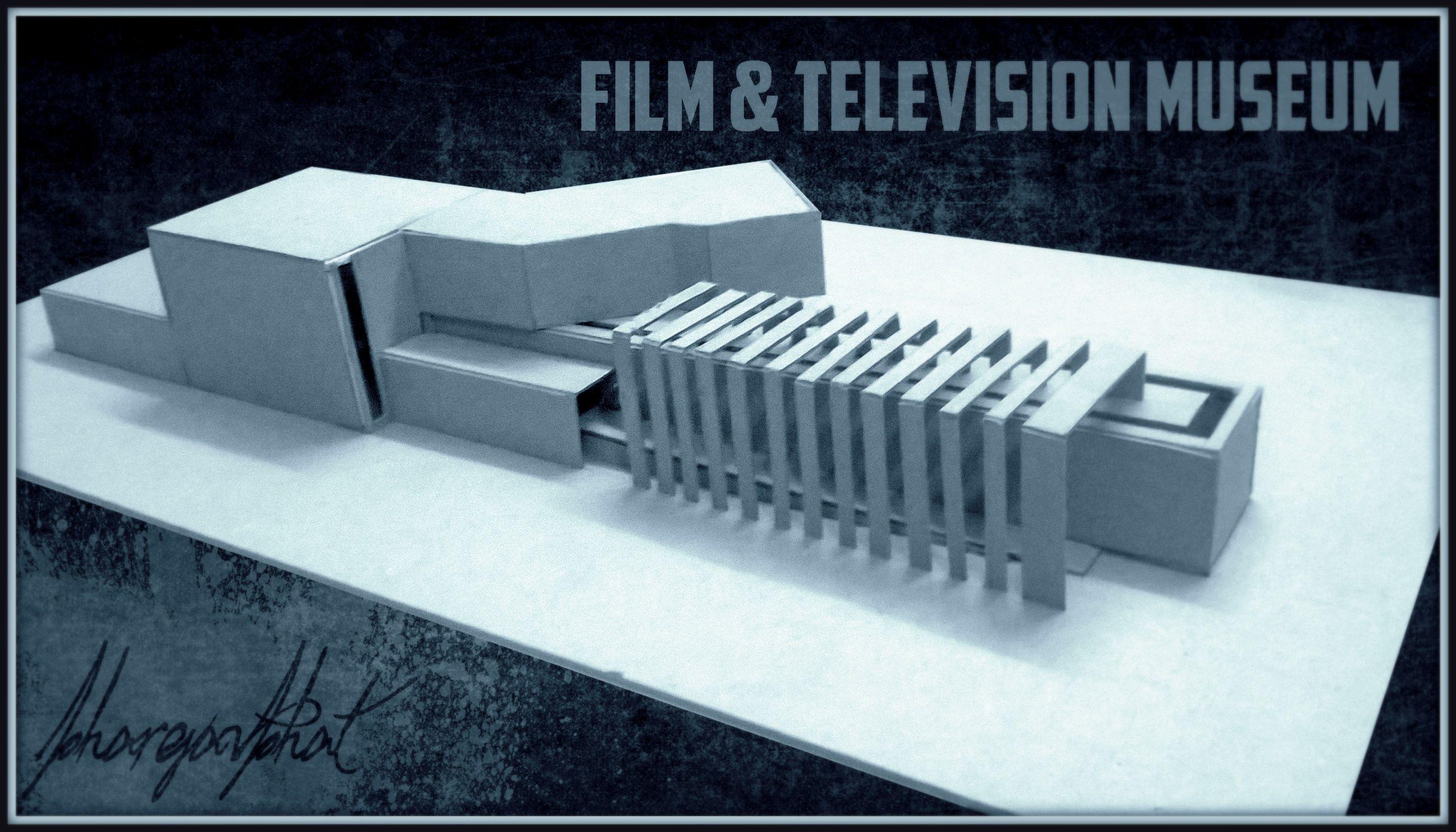 Film museum concept model   [ARCHITECTURE]   Museum architecture