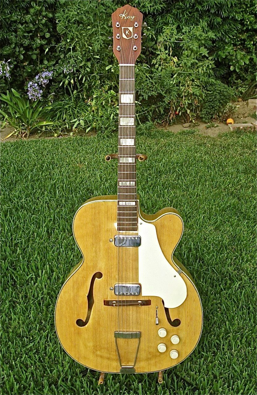 1956 kay 192b electric archtop guitar ebay vintage guitars guitar archtop guitar drum. Black Bedroom Furniture Sets. Home Design Ideas