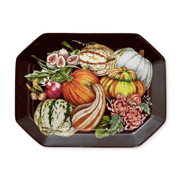 Harvest Pumpkin Octagonal Platter in 2018 Beautiful Oval/Round