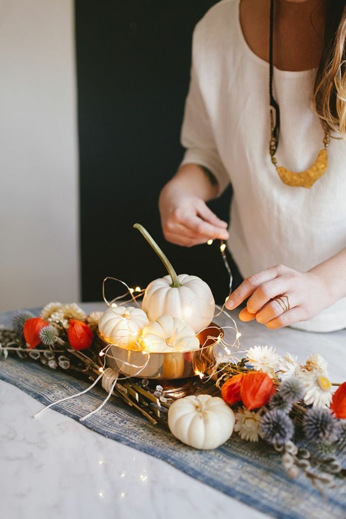 Anleitungen Fotos Herbst Dekoration Terasse Herbstdeko Ideen