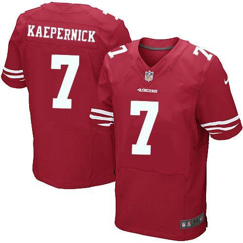 Nike Elite Colin Kaepernick Red Men s Jersey - San Francisco 49ers  7 NFL  Home 2516fc9b7