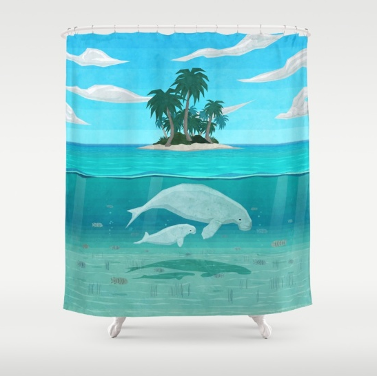 This Calming Shower Curtain