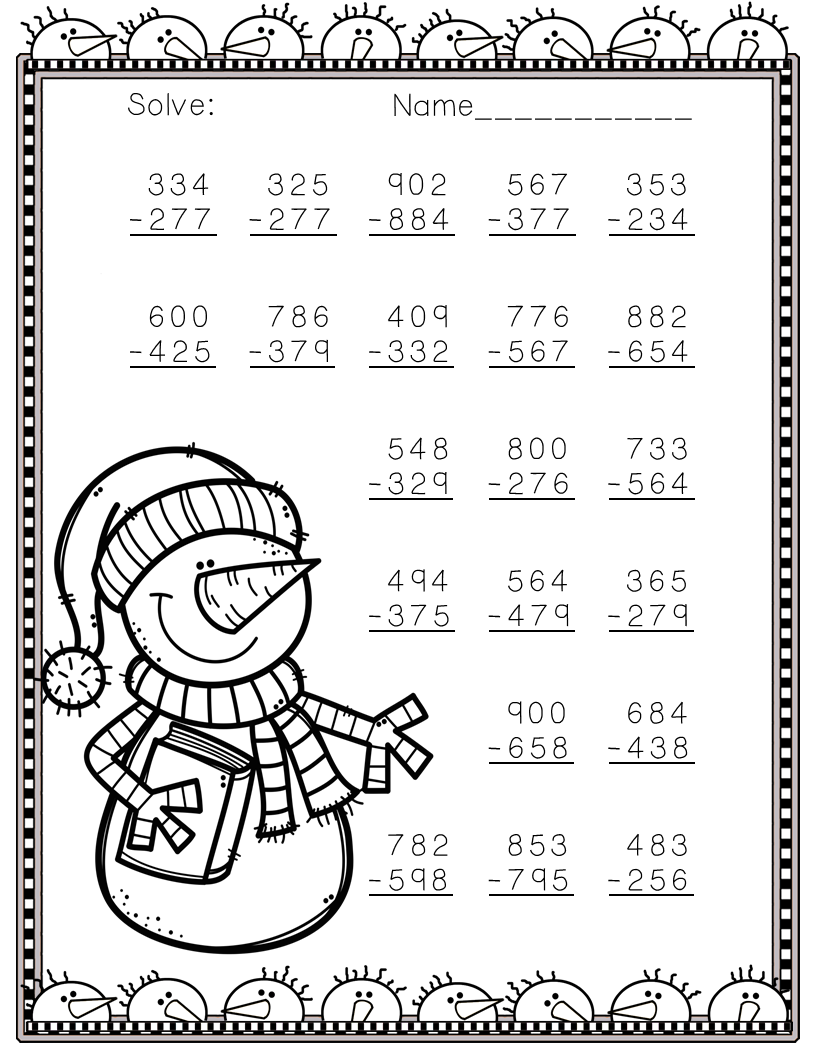 Need extra subtraction practice? These ten pages focus on