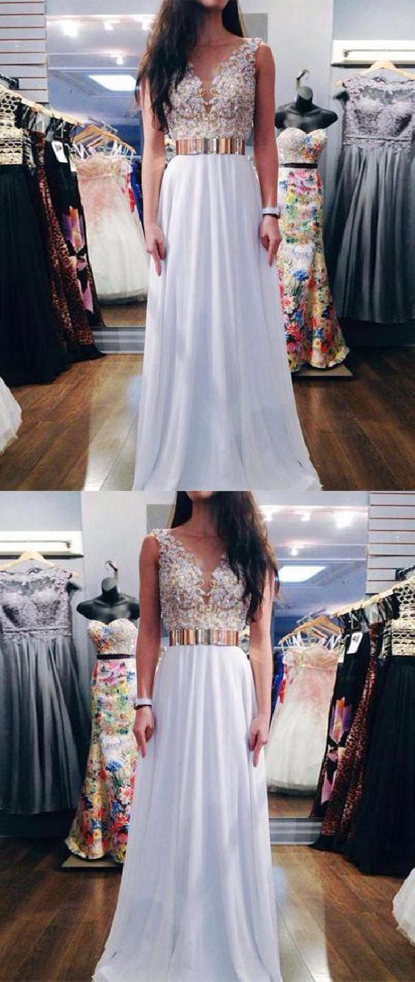 Hot sale splendid white prom dresses prom dresses long prom