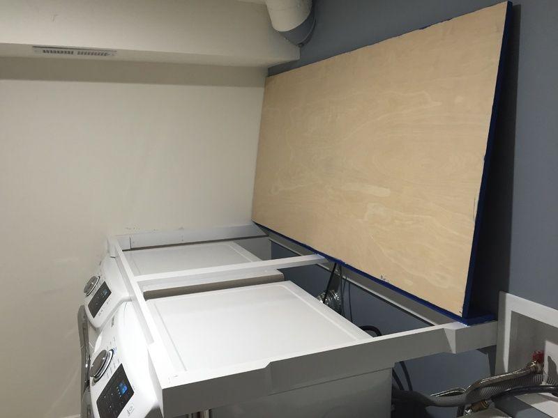 Installing Countertop Over He Washer Dryer Carpentry Diy