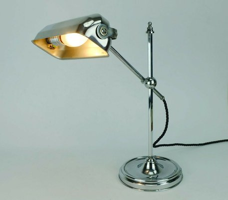 Art Deco French Adjustable Nickel Table Lamp 1930s In 2020 Nickel Table Lamps Table Lamp Lamp
