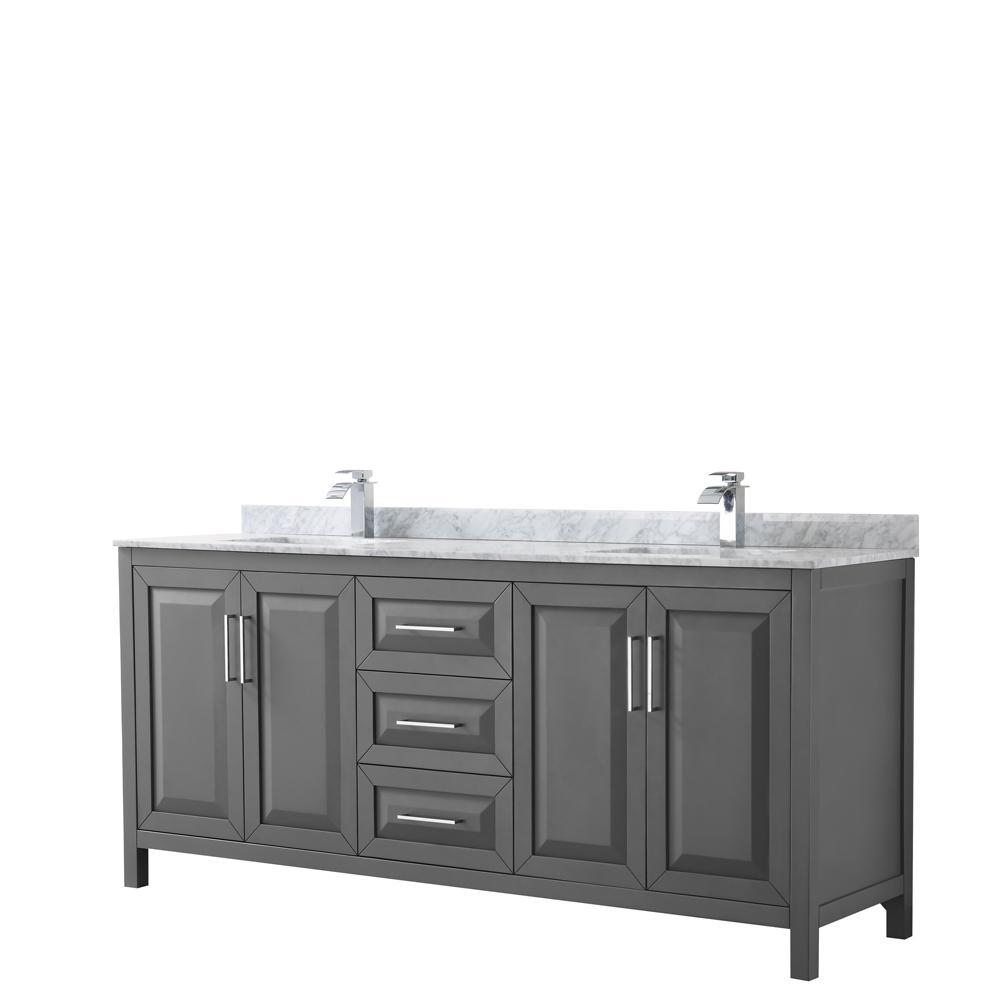 Wyndham Collection Daria 80 In Double Bathroom Vanity In Dark