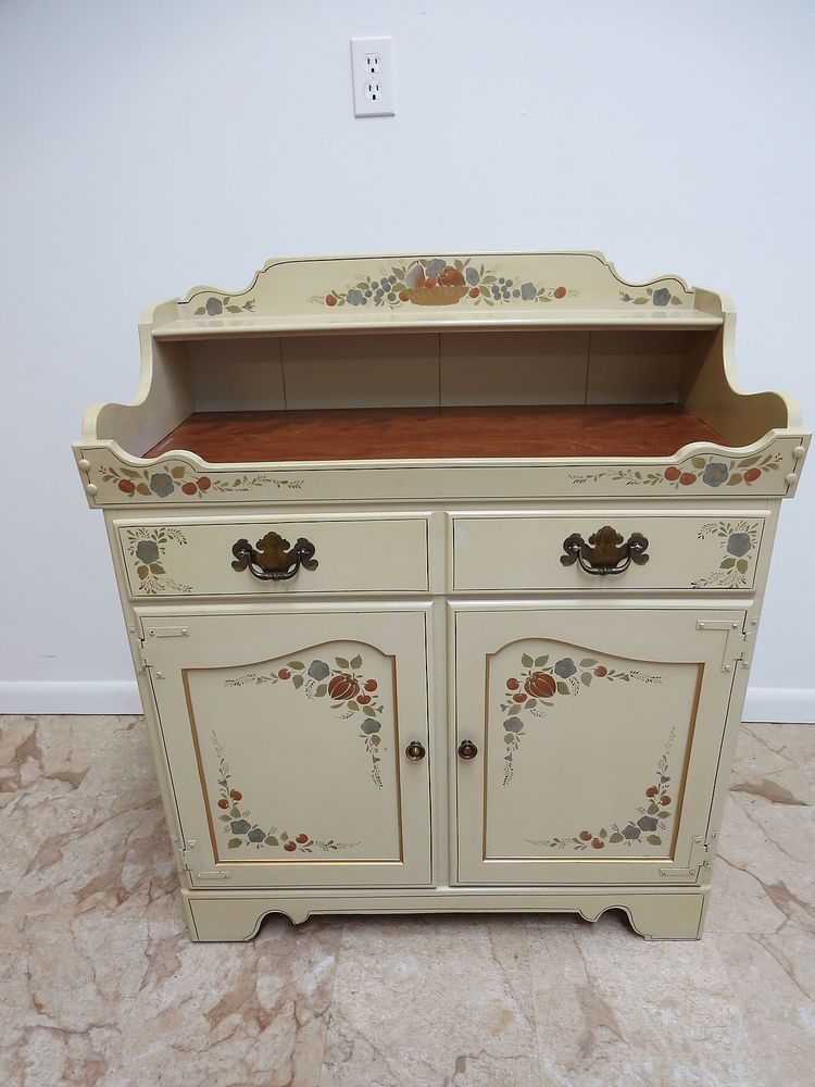 Ethan Allen Hitchcock Painted Server Sideboard Cabinet Dry Sink ...