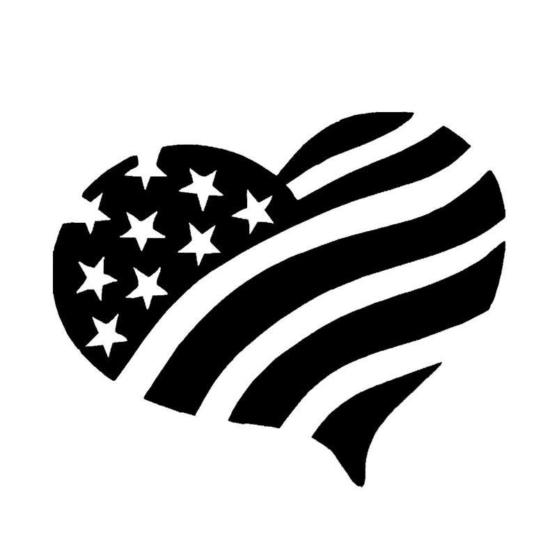 Wholesale 10pcs Lot 20pcs Lot American Flag Heart Vinyl Decal Car Truck Window America American Love Pa In 2020 American Flag Decal Car Decals Vinyl Funny Vinyl Decals