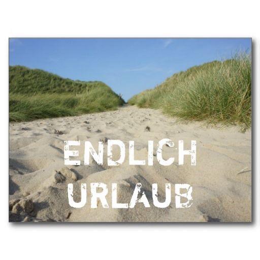 endlich urlaub weg zum strand durch strandhafer postkarte. Black Bedroom Furniture Sets. Home Design Ideas
