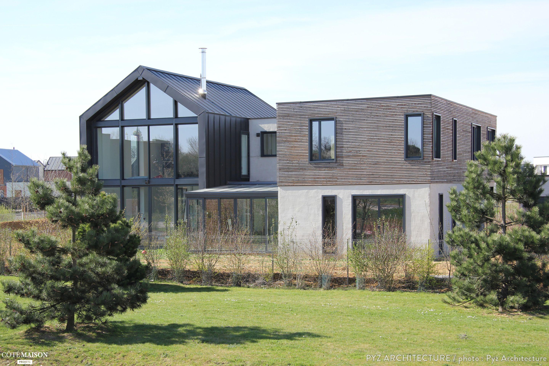 Maison ossature bois chessy chessy pyz architecture for Architecte maison bois