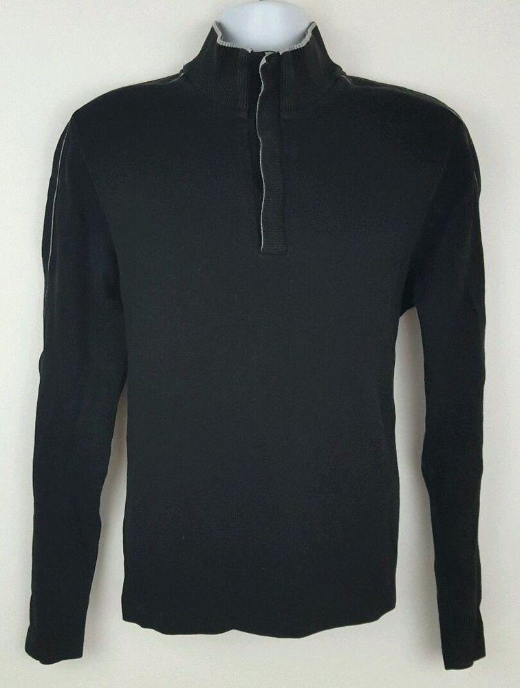 e3b64e926 Hugo Boss Half Button Men's Sweater Black Size L #HUGOBOSS #12Zip ...