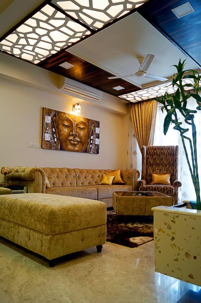 False ceiling for the living room. #home #homedecor # ...