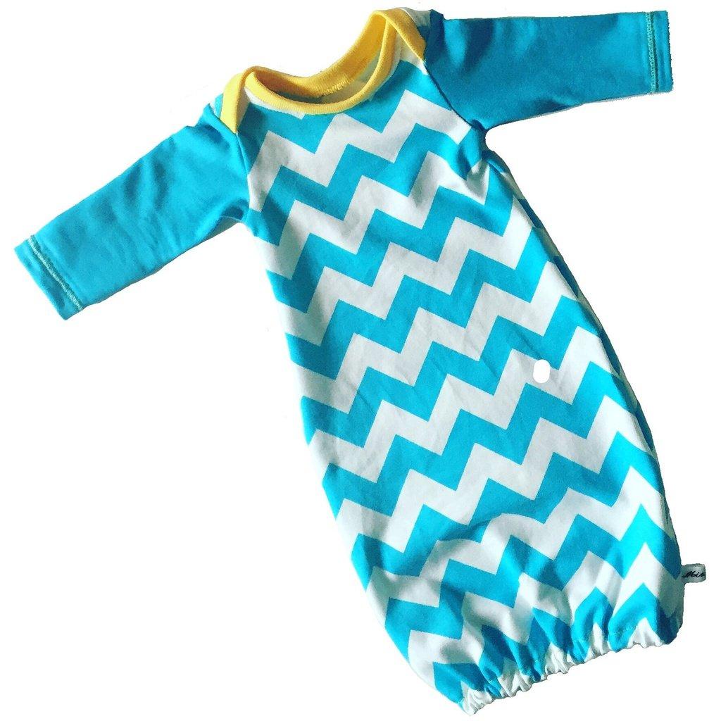 21b300c0370f Preemie and baby sleep gown blue - Size preemie - 12 months ...