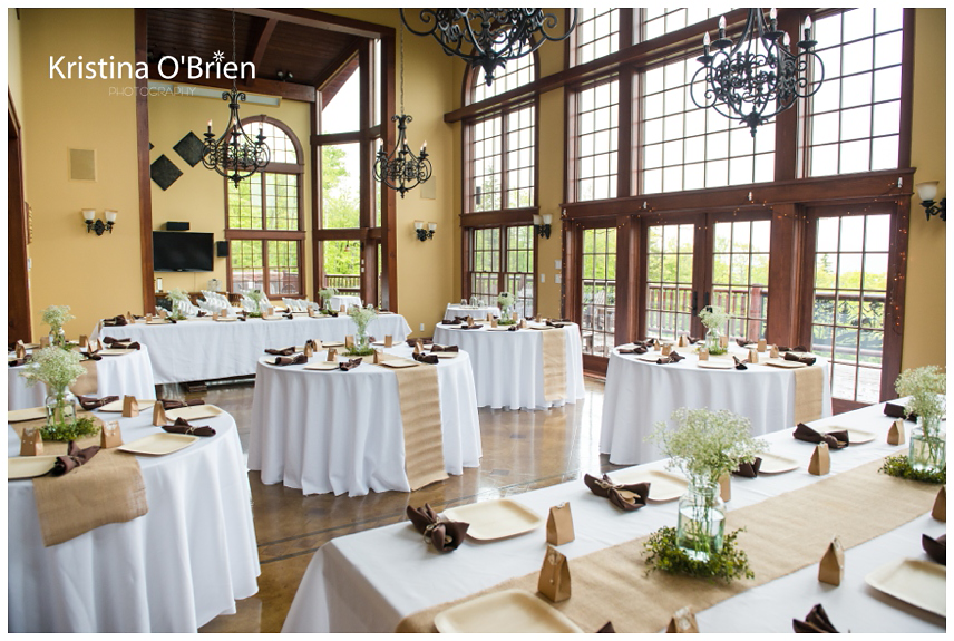 My Wedding ~ White Tablecloths With Burlap Runners