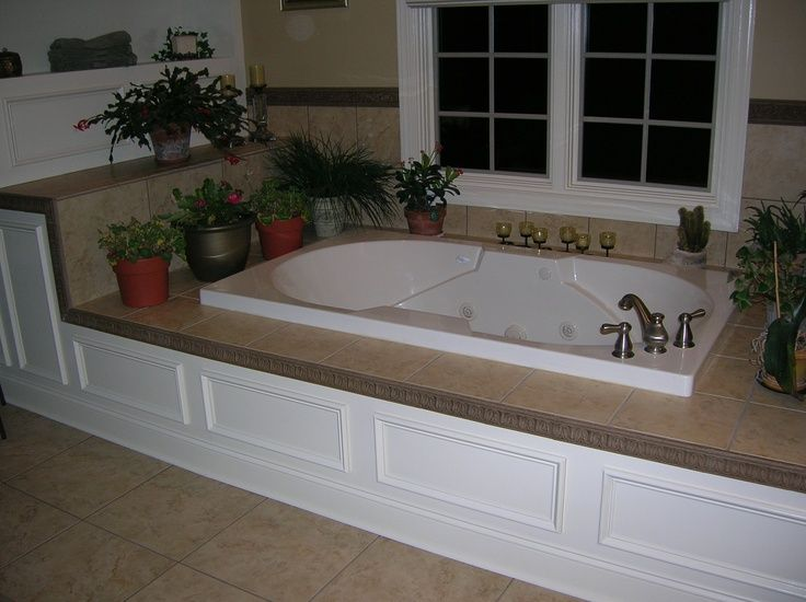 drop in tub surround |paneling and tile around tub-possibly what ...