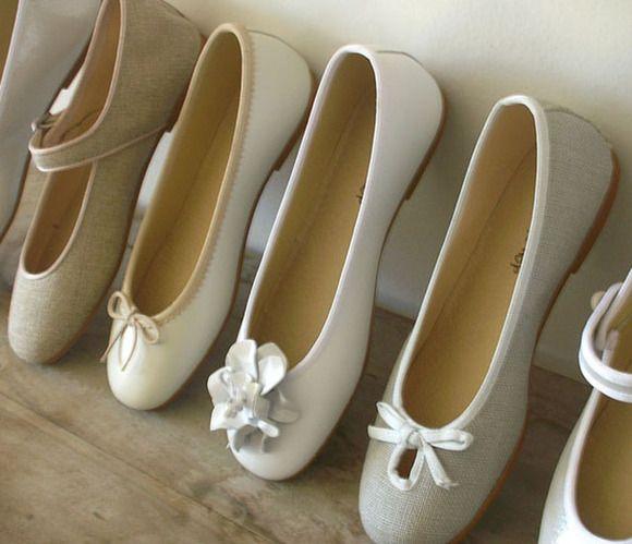 4d4c4b1f505 Balerinas para niñas Zapatos De Primera Comunion