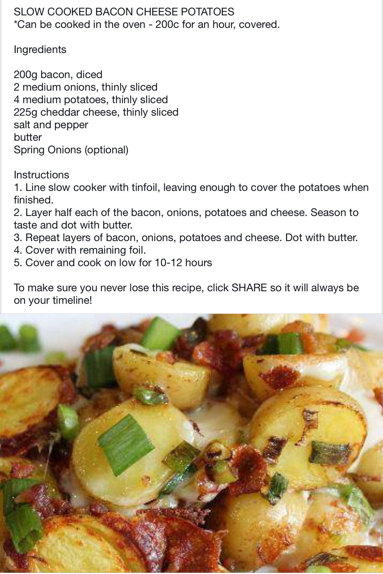 Explore Bacon Cheese Potatoes, Vegetable Recipes, And More!
