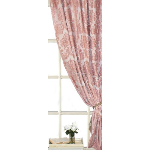 Mad Blush 108 X 24 Inch Blackout Lined Pinch Pleat Curtain Single Panel Ic Linen Co By