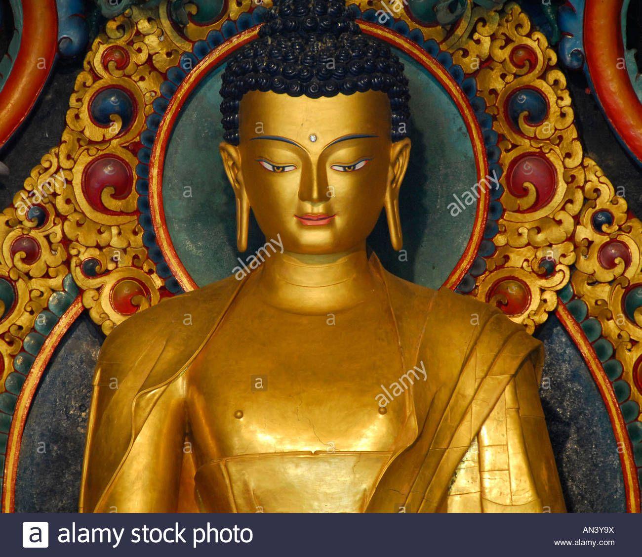 Download This Stock Image Golden Buddha Statue In Bodhgaya