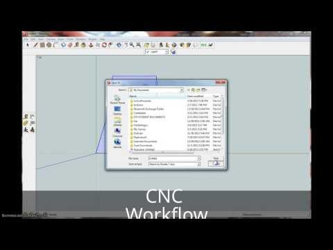 Cnc Workflow Sketchup Makercam Grbl Controller Youtube With
