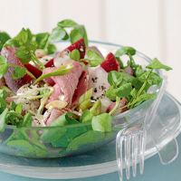 Roast Beef and Beetroot Salad with Horseradish Dressing