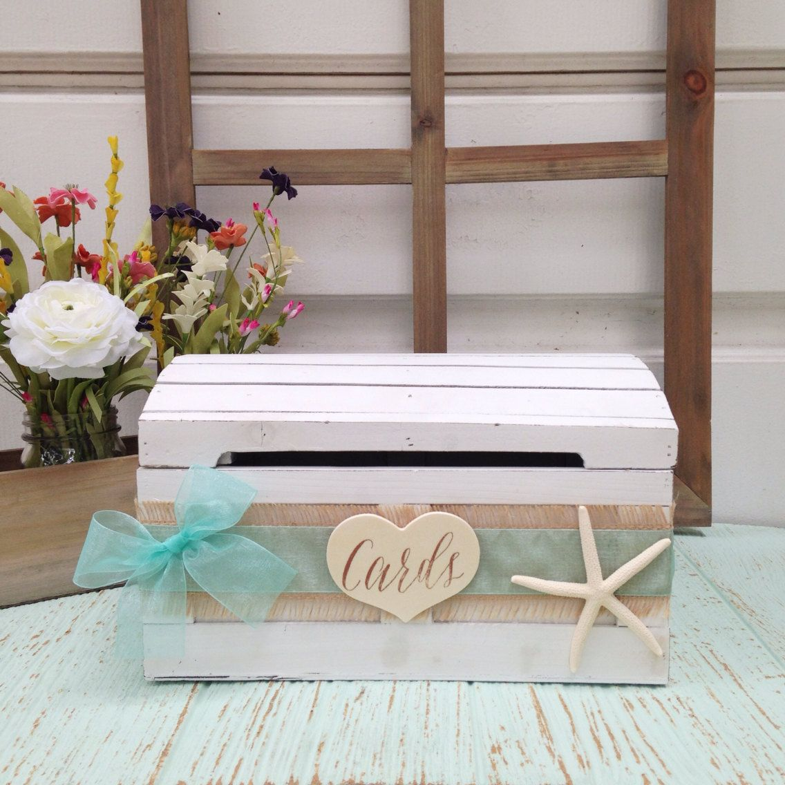 Beach Wedding Card Box Seaside Decor Wedding Advice By LoRustique
