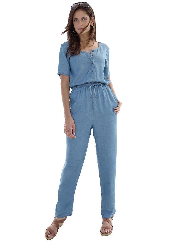 e1a4d42527b Jessica London Women s Plus Size Tencel Jumpsuit at Amazon Women s Clothing  store