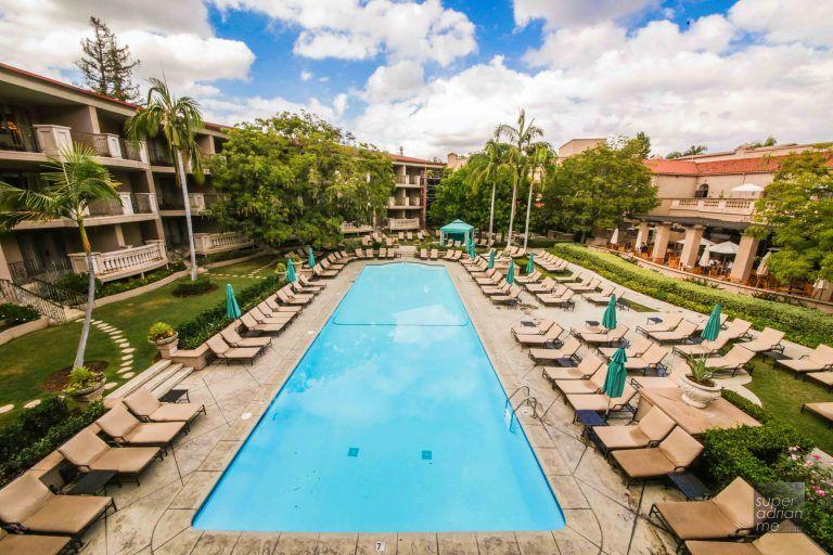The pool at The Langham Huntington Pasadena.