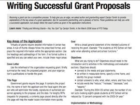Pto Today Writing Successful Grant Proposal Dissertation Improvement