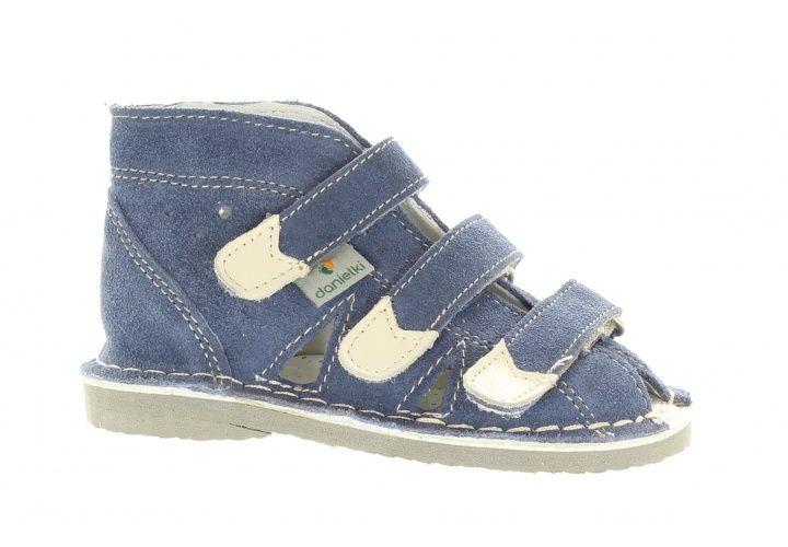 Kapcie Chlopiece Danielki Buty Profilaktyczne S104 S114 Jeans Wedge Sneaker Baby Shoes Shoes