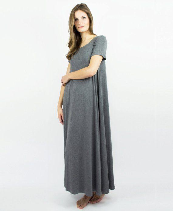 4f4ba398fac35 Long Nightie, luxury lingerie, Plus Size sleepwear, Plus Size Maternity, maternity  nightgown, matern