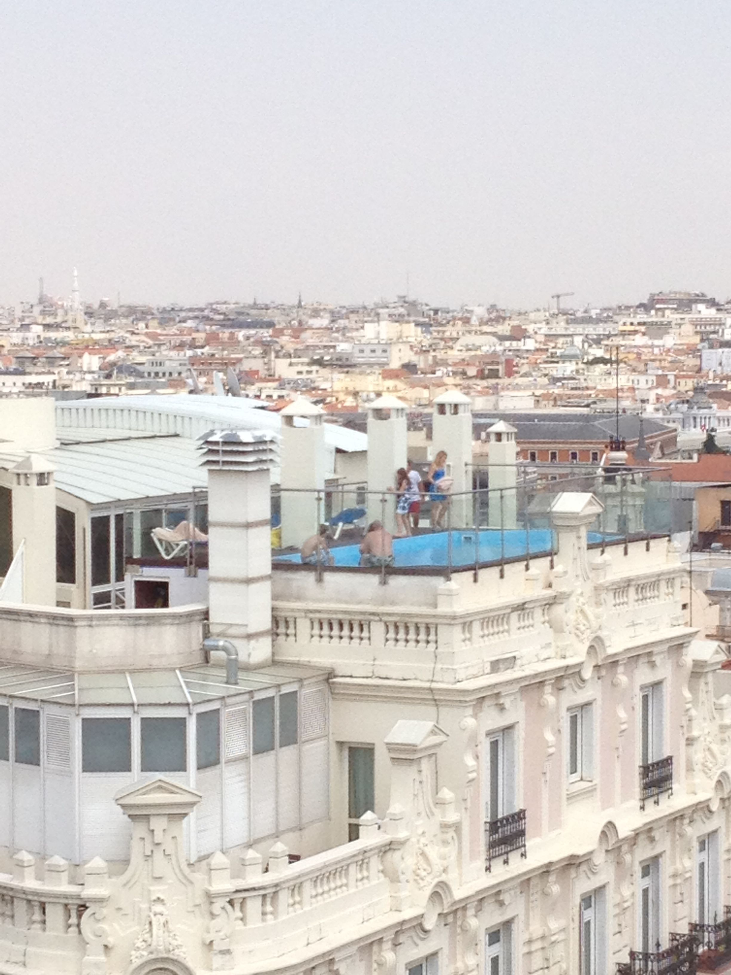 A rooftop pool on the hotel across from mine gran via in - Hotels in madrid spain with swimming pool ...