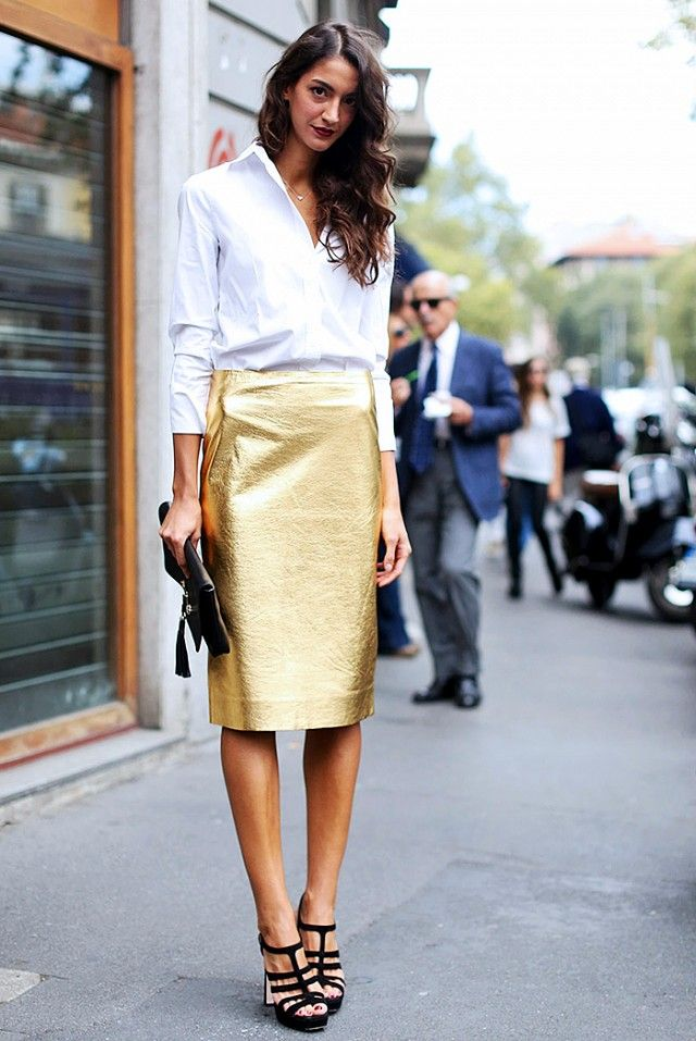 5ac8b8adf7462 The Most Stylish New Year's Eve Outfits Spotted on Pinterest via @ WhoWhatWear
