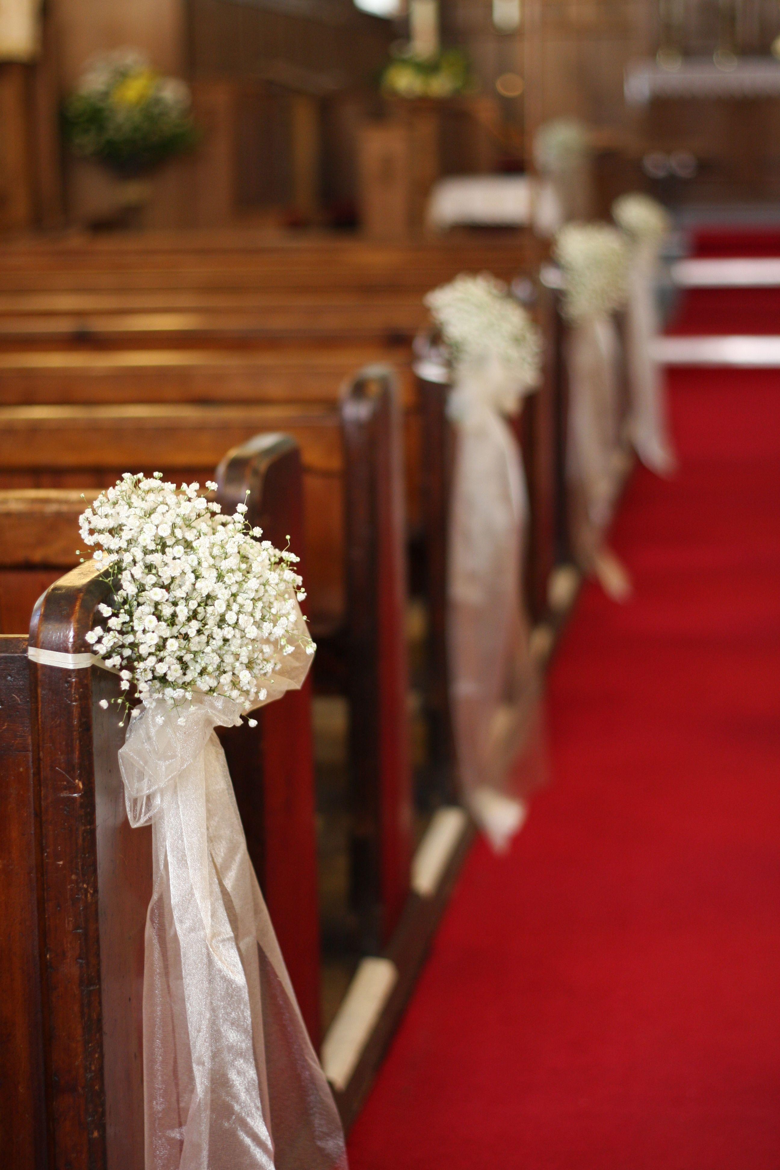 Baby S Breath Pew Ends Www Buttercupflowers Co Uk Church Wedding Flowers Church Wedding