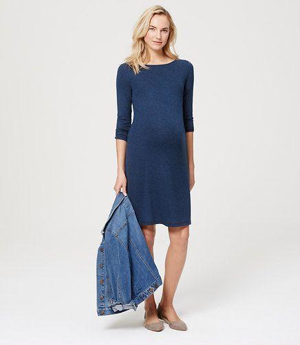 Image of Maternity Melange Side Shirred Dress  48827f33422a6