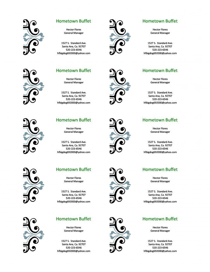Business Card Template Word Check more at https