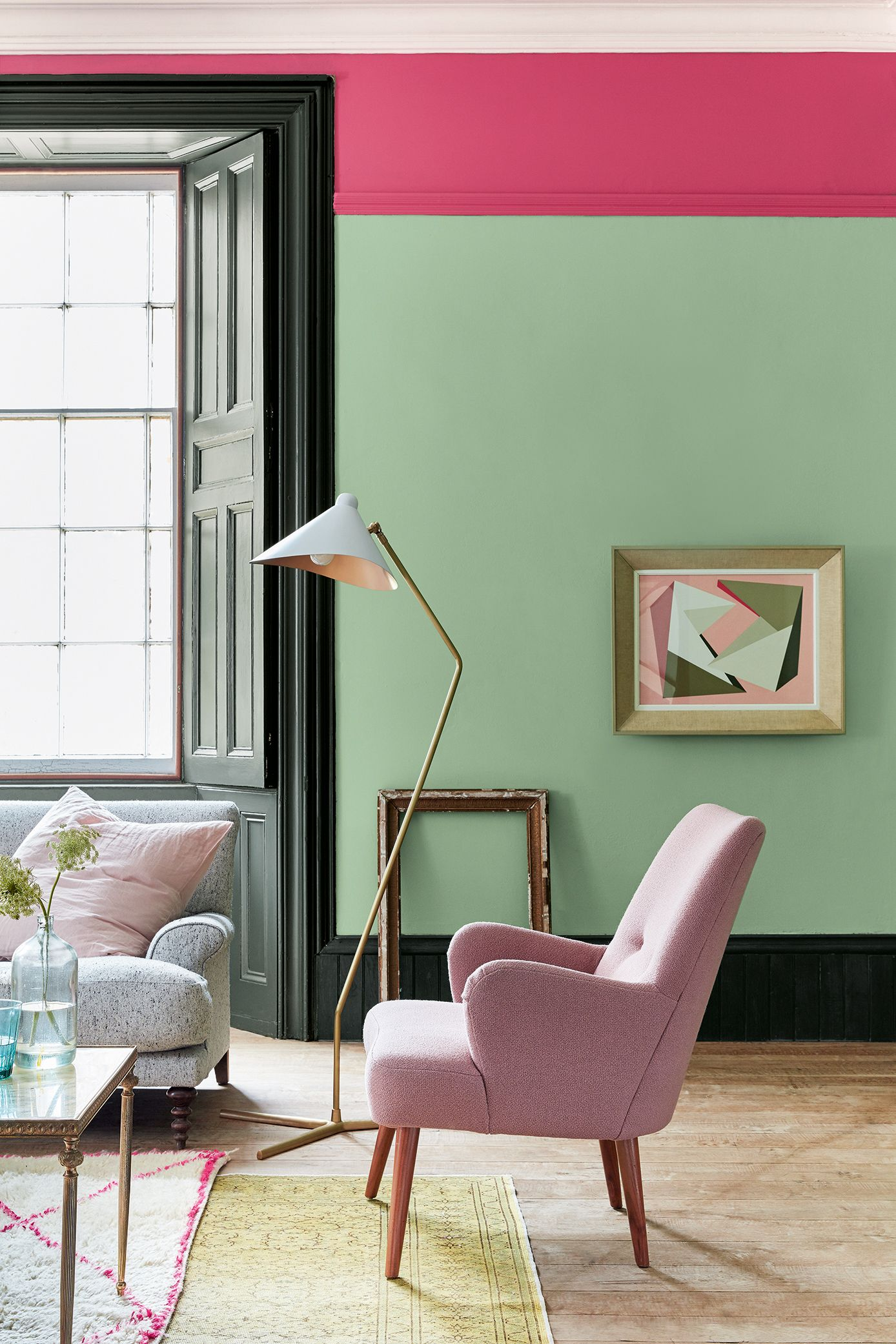Looking To Create A Contemporary Feel In Your Living Room We Love Colour Blocking And Think This C Living Room Paint Living Room Green Living Room Colors