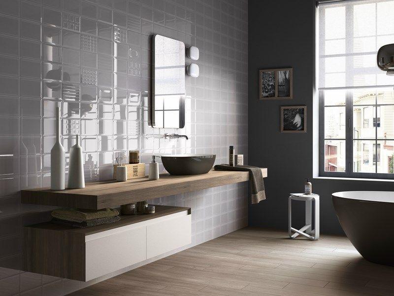 photos faience: exemple de pose de faiences dans salles de bains ... - Calepinage Salle De Bain