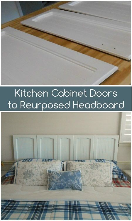Upcycled Kitchen Doors to Repurposed Headboard