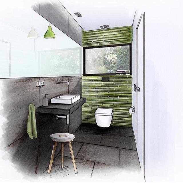 Guest Toilet Agrob Architecture Architektur Alape Archisketcher Bathdesign Badpl Interior Design Drawings Interior Design Guide Interior Design Sketches