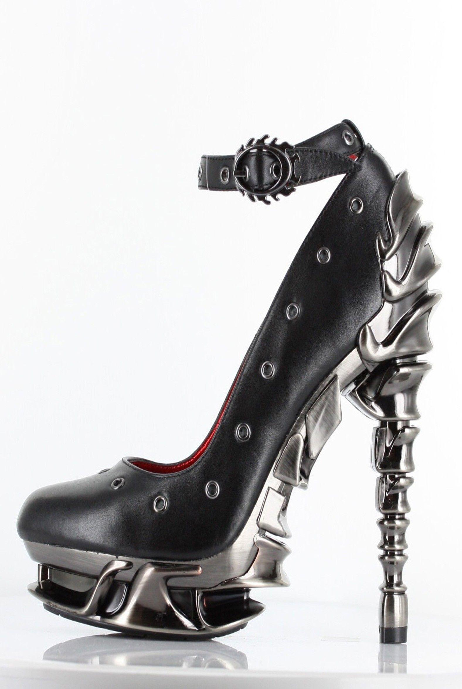 89729265e Hades Shoes - Zephyr - Black - Goth Metal Emo Scene Alternative Black Heel  - Salient Seven