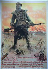 Original WW1 Poster 1918 WWI 31x45 Affiche Ancienne Francais War YOU CANNOT PASS
