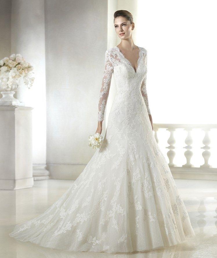 20 vestidos de novia de manga larga para casarse en 2015
