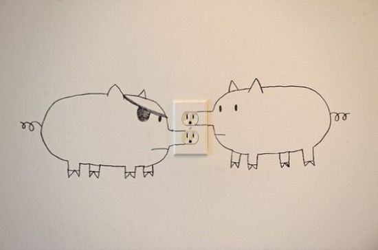 Pig Nose Power Outlet Fun Pinterest Funny Ideas And Creative