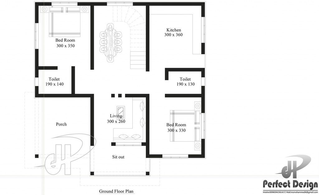 Small House Plan Designed To Be Built Above 80 Square Meters Small House Design Plans 2 Bedroom House Design Bedroom House Plans