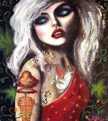 3ed7f7506451 Blondie  Heart of Glass  Lyrical Wall Art Print