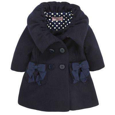 Navy blue coat Monnalisa for babies | Melijoe.com