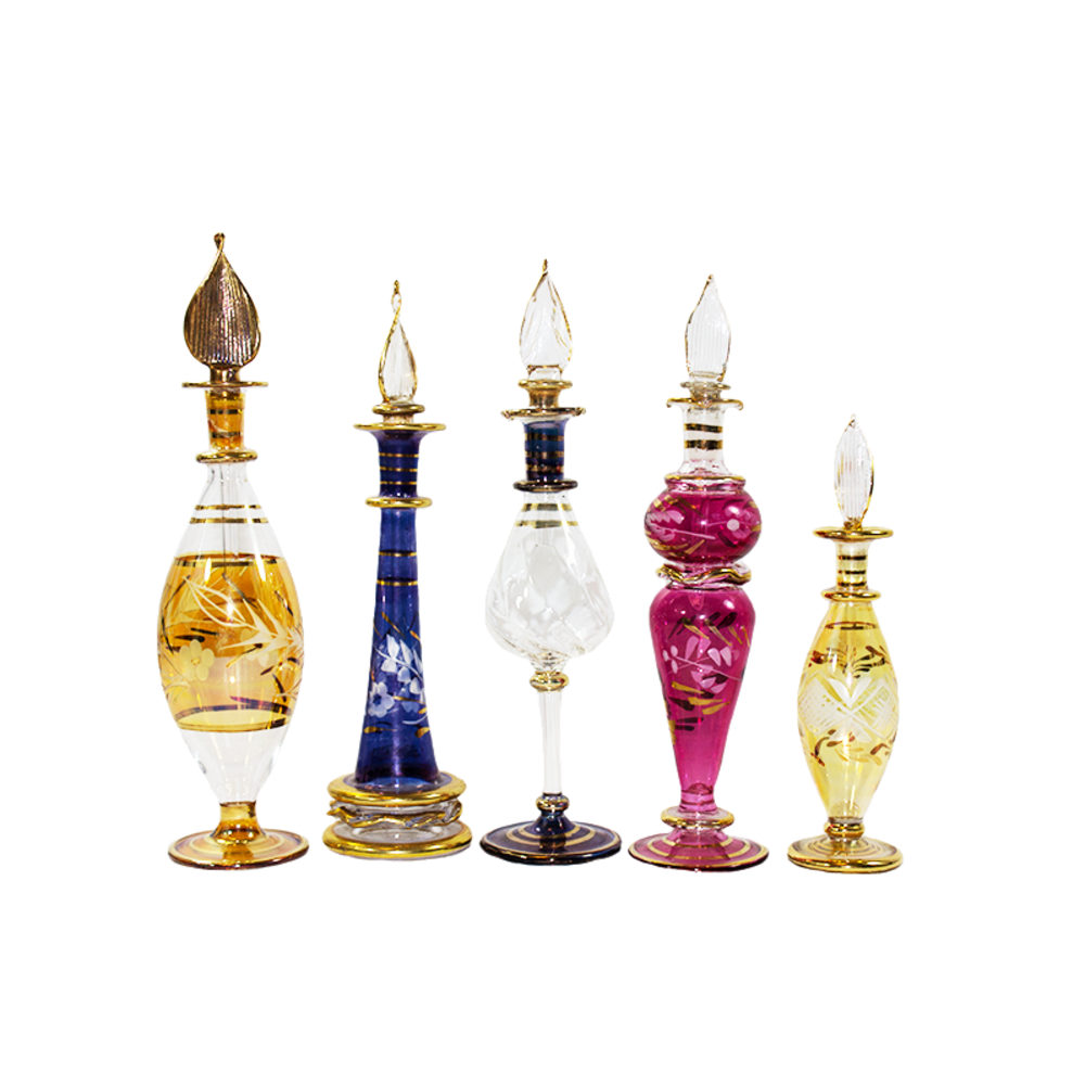 Egyptian Fragrance Bottles, S/5 from House of Impress - Hunters Alley